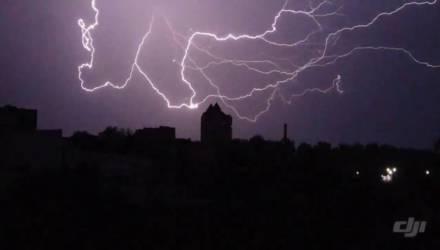 Инфернальная ночная гроза в Могилёве