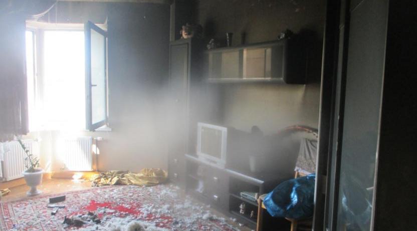 Детская шалость привела к пожару в квартире в Могилеве