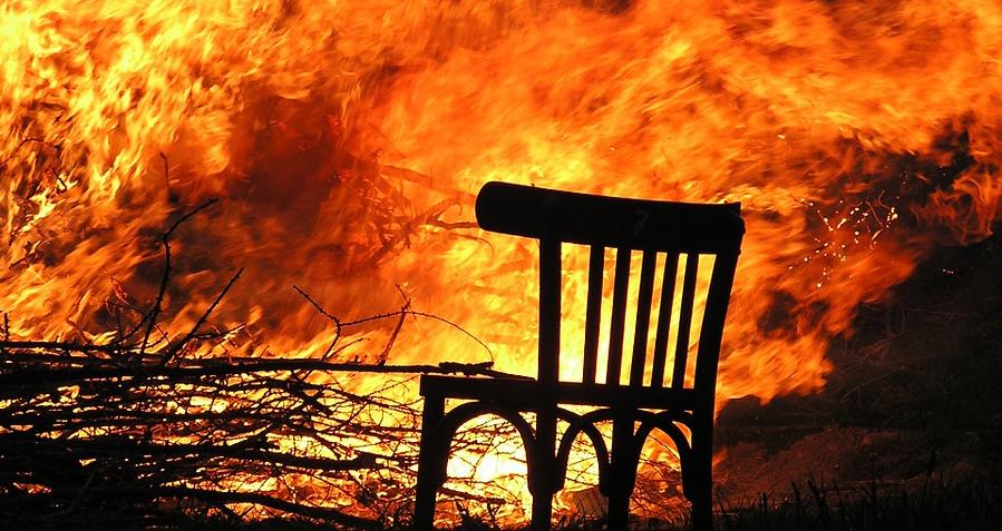 В Чаусском районе произошел пожар