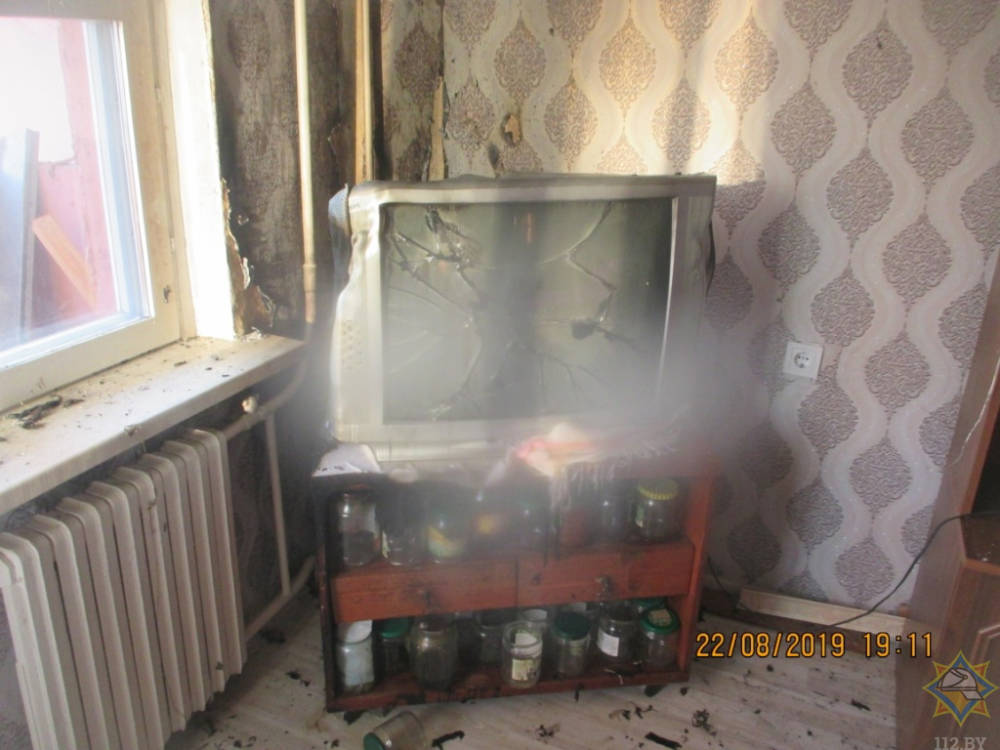 Пожар в квартире в Могилеве