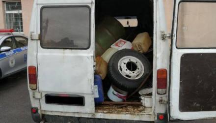 Задержан могилевчанин, перевозивший в микроавтобусе больше тонны лома черного металла