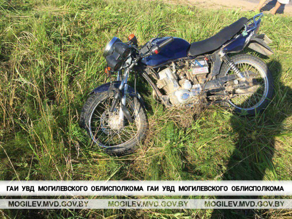 В Дрибинском районе мотоциклист попал в ДТП