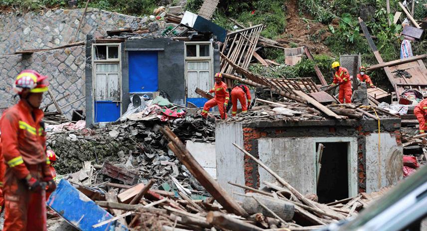 Последствия тайфуна «Лекима», обрушившегося на Китай