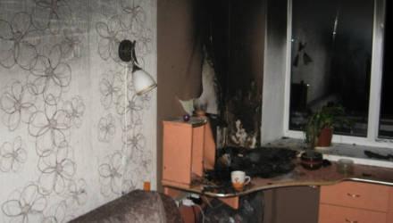 В Осиповичах в квартире произошел пожар