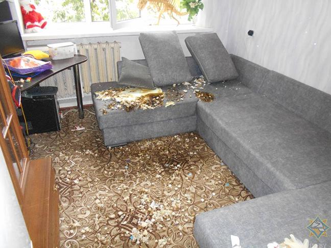 В Бобруйске горела квартира. Есть пострадавший