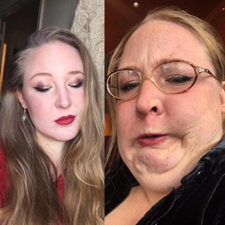 Девушки сами показали, как их фото далеки от реальности: 15 смешных примеров