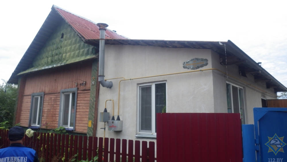 В Могилевском районе горел частный дом