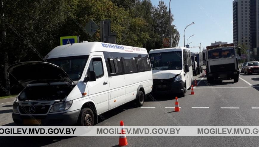 ДТП в Могилеве: «МАЗ» въехал в «ГАЗ»