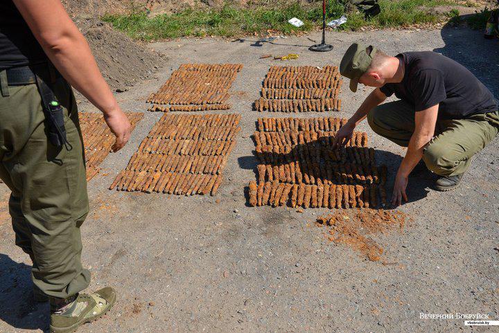 Более 500 снарядов нашли в Бобруйске при прокладке теплотрассы