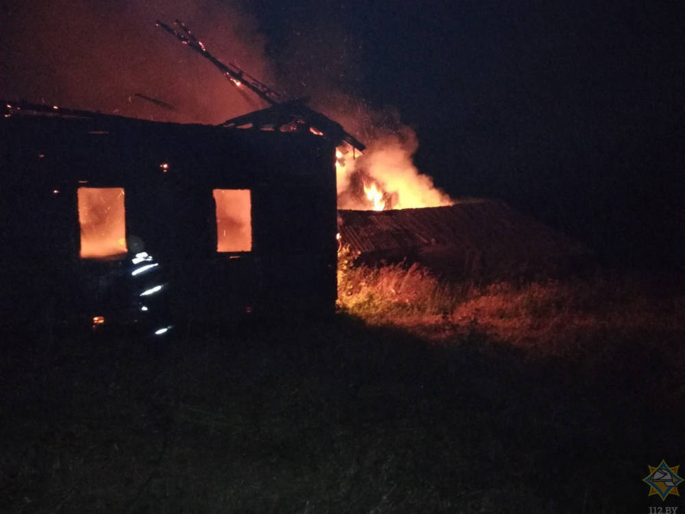 В Могилевском районе горел дом
