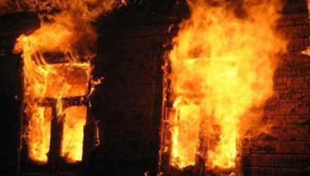 В Дрибинском районе пожар в доме унес одну жизнь