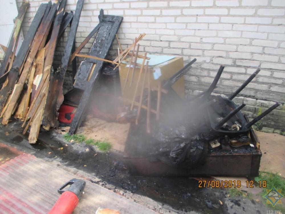 В Могилевском районе в доме произошел пожар