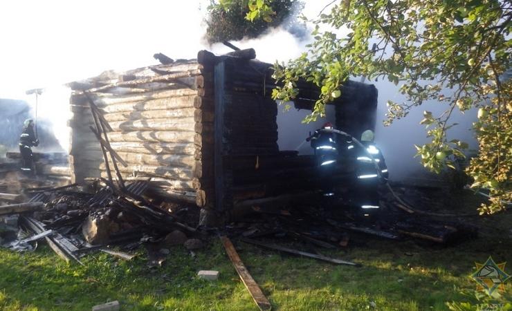 Сгорела дача в Могилевском районе