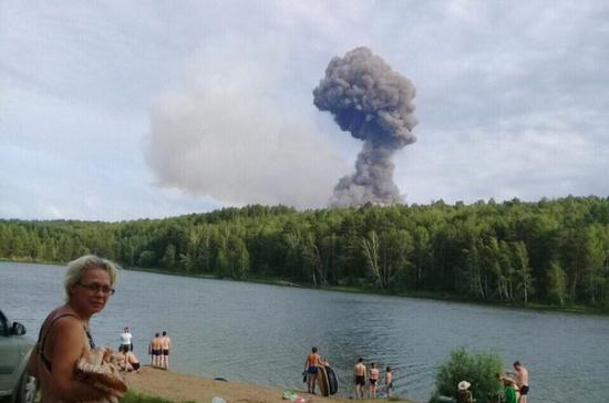 Последствия взрыва на военном складе в Ачинске
