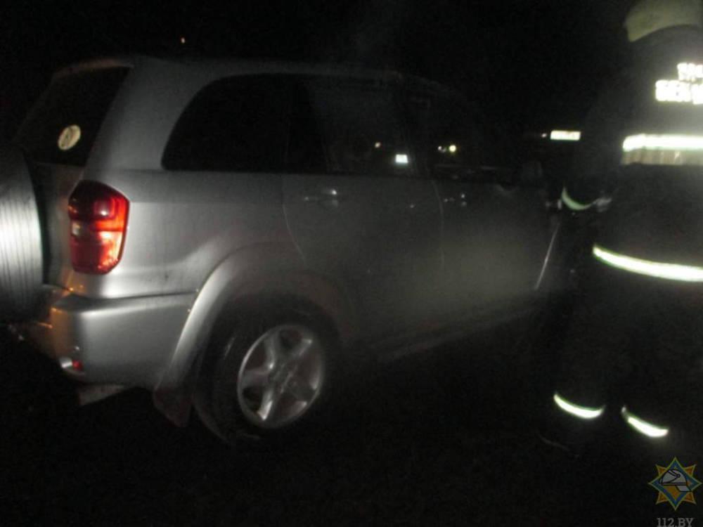 Ночью в Могилеве горел автомобиль