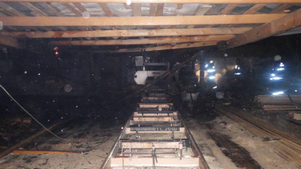 Пожар на пилораме в Могилевском районе