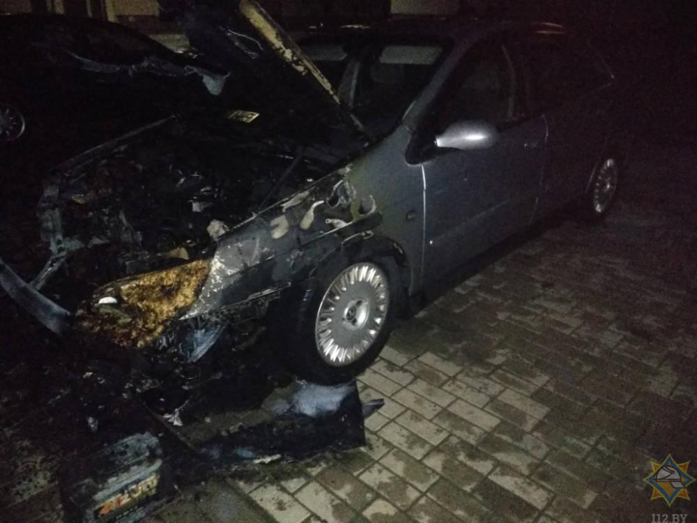 В Славгороде горел автомобиль