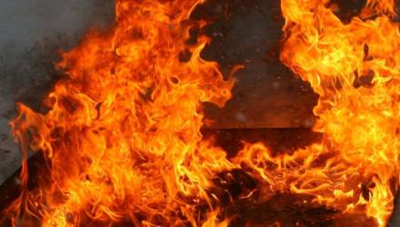 На пожаре в Осиповичах пострадал человек