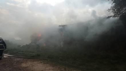 В Горецком районе сгорело 150 тонн соломы