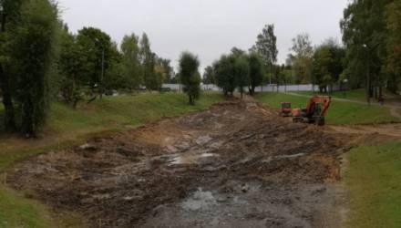 Озеро по Первомайской в Могилёве благоустроят к концу октября (видео)