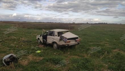 «ВАЗ» опрокинулся в Мстиславском районе, водитель в больнице