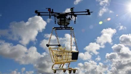 В Минске тестируют доставку еды дроном
