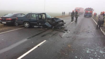 В Чериковском районе лоб в лоб столкнулись Volvo и Renault