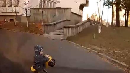 В Гомеле малыш выскочил прямо перед автомобилем (видео)