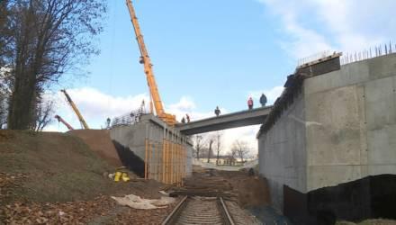 Движение по новому путепроводу в Могилёве пустят 7 ноября (видео)