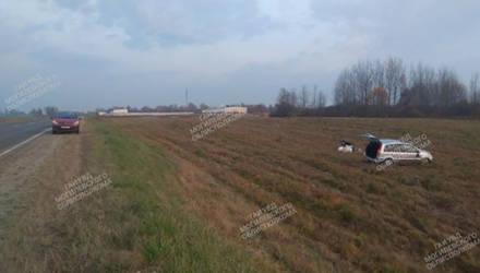 «Форд Фьюжн» опрокинулся в Мстиславском районе, двое пострадавших