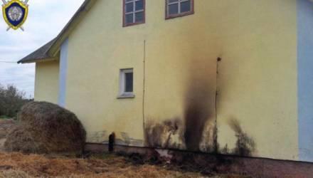 Страшно. В Дрибинском районе в загоревшемся рулоне соломы погиб ребёнок – дети играли со спичками