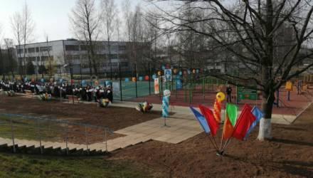 Новую воркаут-площадку открыли в Могилёве на Мовчанского