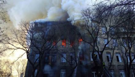 Пожар в Одесском колледже: один человек погиб, 13 пропали