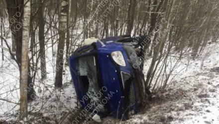 В Костюковичском районе опрокинулся автомобиль: пострадали люди