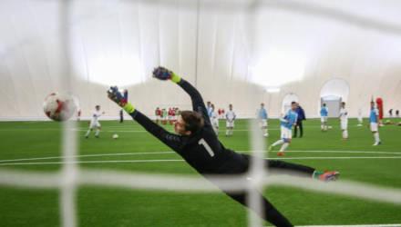 Крытый футбольный манеж открыт в Могилёве (фото)