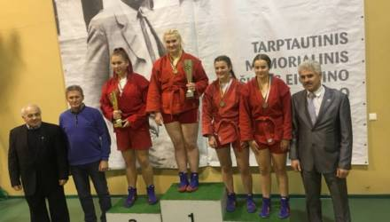 Пять медалей завоевали бобруйские самбисты на Международном турнире в Вильнюсе