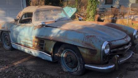 Найденный в гараже ржавый Mercedes продали за 800.000 долларов