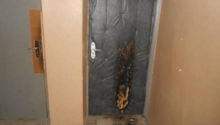 В Могилёве подожгли дверь квартиры - виновных устанавливают