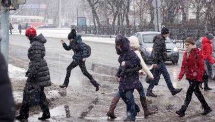 Мокрый снег и слякоть. Погода в Могилёве в выходные
