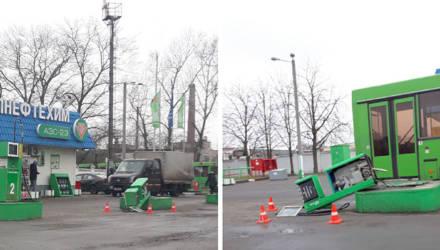 Телефонный звонок «снес» бензоколонку в Бобруйске