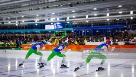 Могилёвская конькобежка в составе команды завоевала «бронзу» на чемпионате Европы