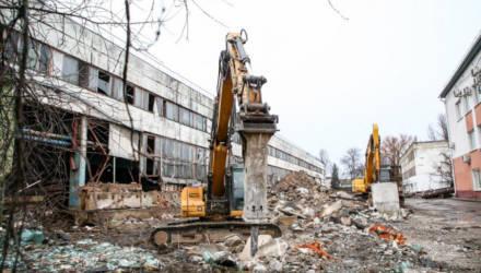 В Могилёве сносят дома и промышленные объекты под строительство новой трассы (фото)