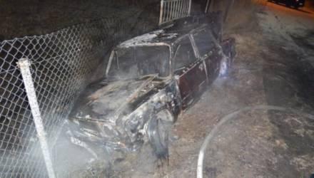 Утром в Могилёве сгорел «ВАЗ»