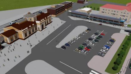 Торговые павильоны на привокзальной площади Могилёва объединят в один объект (фото)