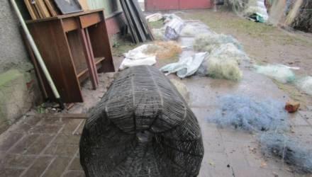Более километра сетей изъяли у браконьера в Бобруйском районе