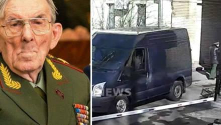 Как нелепо погиб генерал: видео из московского двора