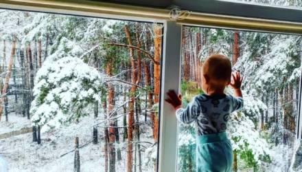 «Зима чуть запоздала?» В Могилевской области и Орше 6 марта внезапно выпал снег