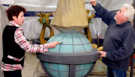 Скульптор из Климовичей готовит очередные композиции для родного города