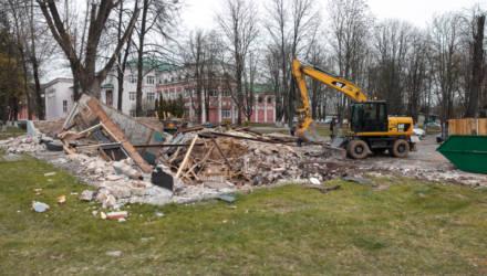 В Бобруйске снесли культовое кафе, чтобы на его месте построить новое с террасой