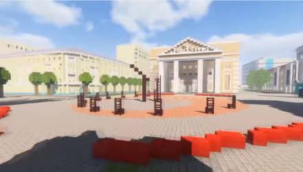 Студент создал виртуальную модель Могилева в игре Minecraft. Оцените его старания за полгода